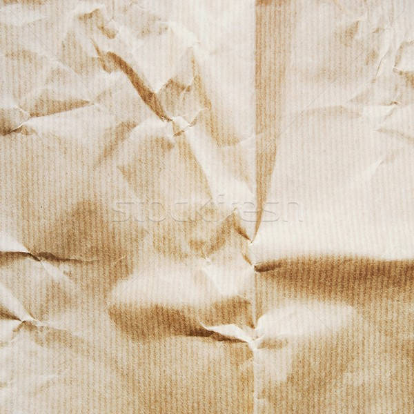 Creased craft paper texture Stock photo © simpson33