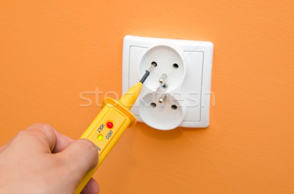 Electricity current meter, turn-screw into the socket. Stock photo © simpson33
