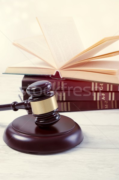 Law gavel and book composition. Stock photo © simpson33