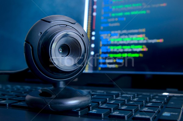 Web surveillance camera. Spying and safety on the Internet Stock photo © simpson33