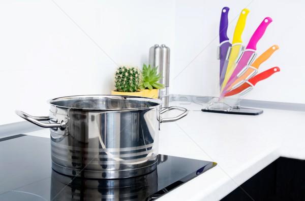 Edény modern konyha tűzhely kerámia terv Stock fotó © simpson33