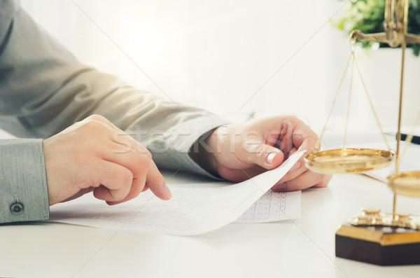 Avvocato lavoro ufficio legge scale Foto d'archivio © simpson33