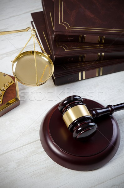 Law gavel justice symbol Stock photo © simpson33