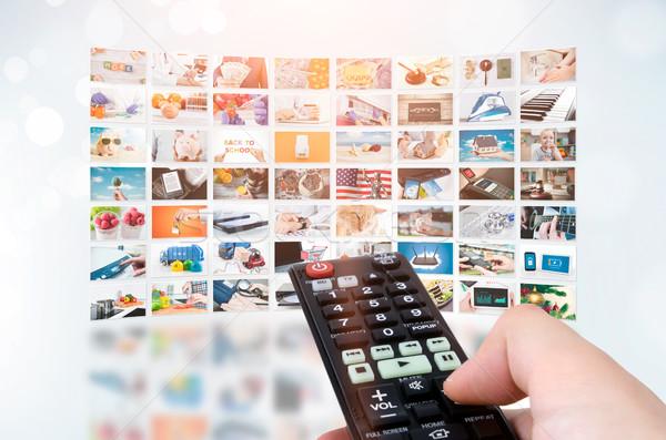 Multimédia videofal televízió adás fal videó Stock fotó © simpson33