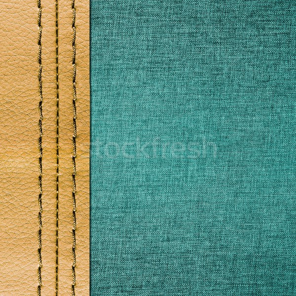 Jeans and leather with seam texture Stock photo © simpson33