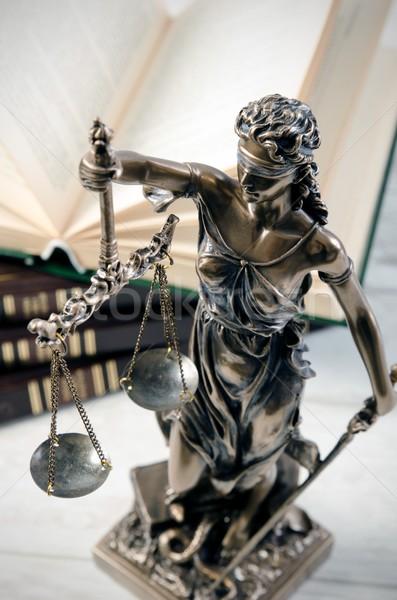 Droit symbole justice avoué avocat échelle Photo stock © simpson33
