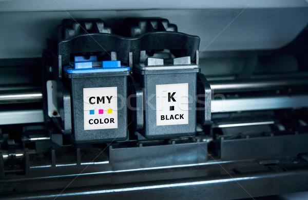 Számítógép nyomtató tinta üzlet papír fekete Stock fotó © simpson33