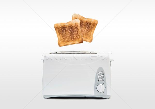 Skoki śniadanie nowoczesne opiekacz żywności domu Zdjęcia stock © simpson33