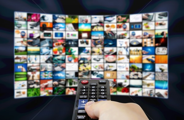 Grande lcd pannello televisione stream immagini Foto d'archivio © simpson33