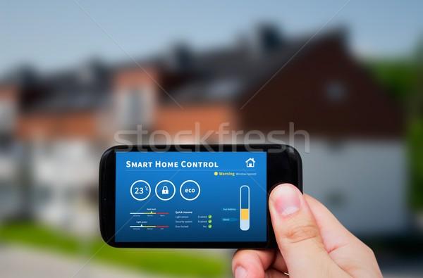 Smart домой контроль технологий удаленных автоматизация Сток-фото © simpson33