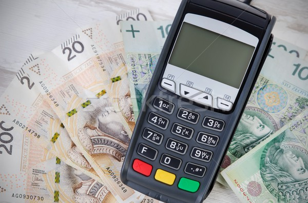 Credit card or cash concept top view Stock photo © simpson33