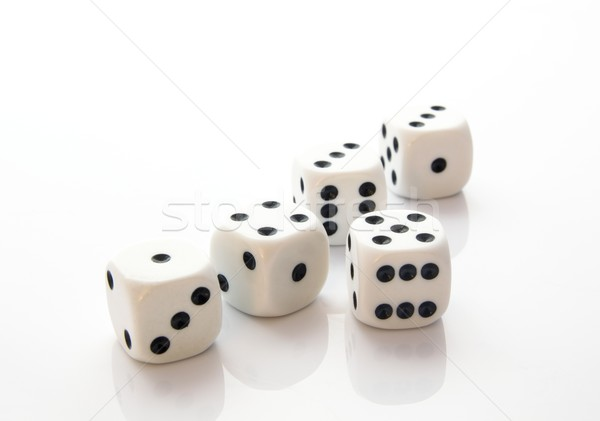 Dices isolated on white background Stock photo © simpson33