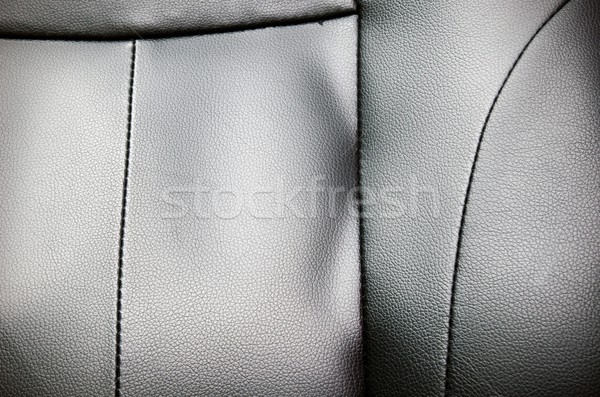 Closeup of seat, chair. Leather with seam texture  Stock photo © simpson33