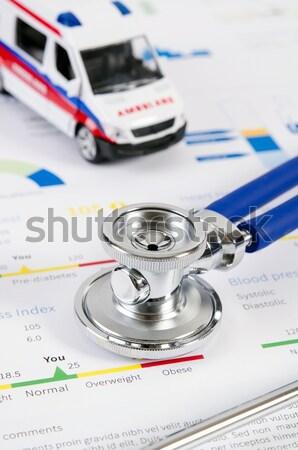 Stetoskop tıbbi doktor kan hastane hemşire Stok fotoğraf © simpson33