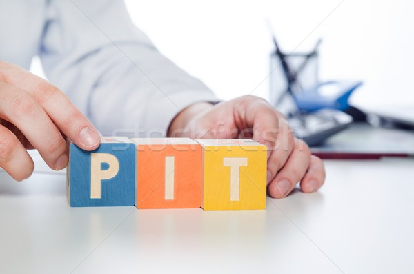 PIT word with colorful blocks Stock photo © simpson33
