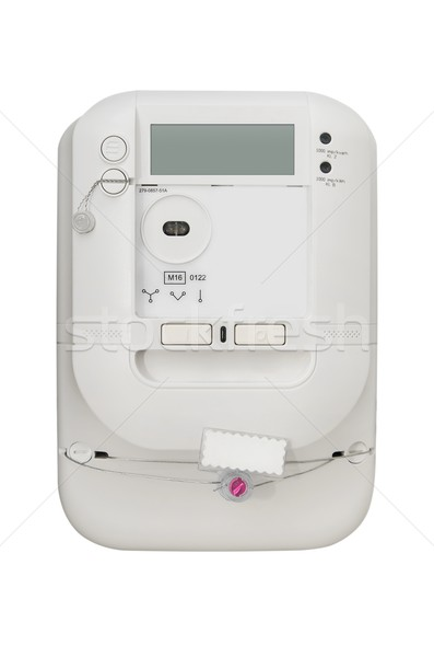 Electric energy meter. Electrical unit isolated on white backgro Stock photo © simpson33