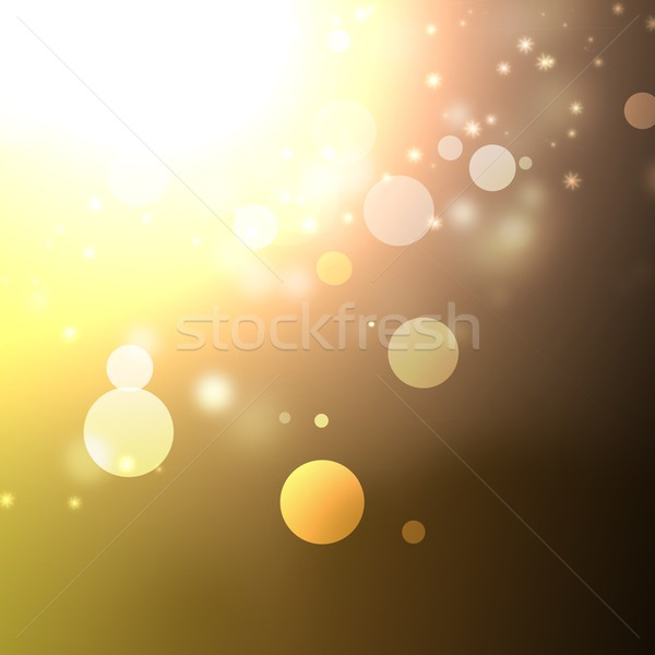 Abstract background with bokeh lights and stars Stock photo © simpson33