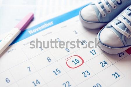 Elektronische thermometer vruchtbaarheid kalender vrouw medische Stockfoto © simpson33