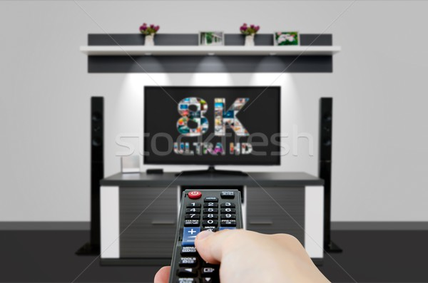TV ultra HD. 8K television resolution technology. Stock photo © simpson33