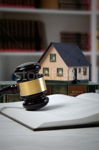 Law gavel and house loan concept.  Stock photo © simpson33