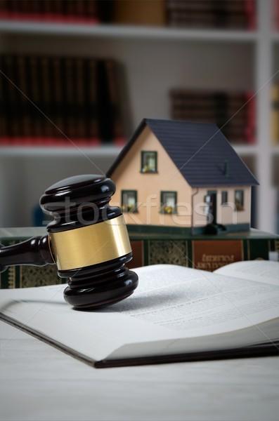 Recht hamer huis lening veiling juridische Stockfoto © simpson33