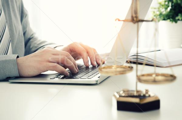 Abogado de trabajo oficina ley abogado escalas Foto stock © simpson33