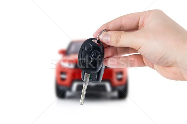 Main touches nouvelle voiture acheter Photo stock © simpson33
