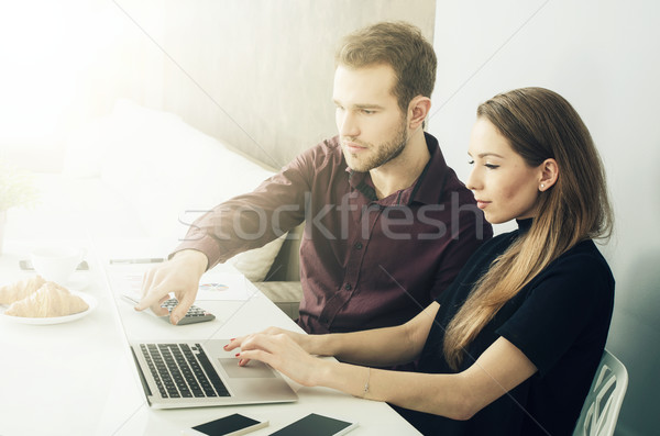 Business team working with computer in the office Stock photo © simpson33