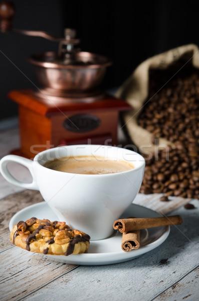 Kávé pörkölt bab malom daráló édesség Stock fotó © simpson33