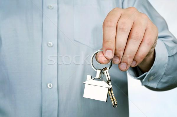 Corretor de imóveis teclas casa forma Foto stock © simpson33