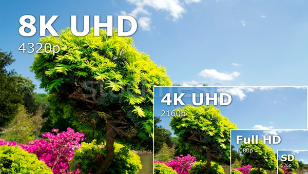 TV ultra HD. 8K television resolution technology Stock photo © simpson33