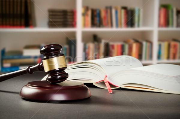 Justice tribunal bibliothèque droit avoué avocat Photo stock © simpson33