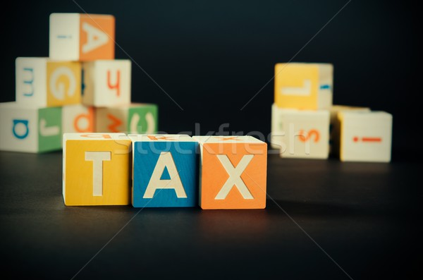 Tax word with colorful blocks Stock photo © simpson33
