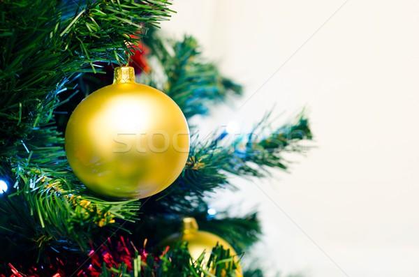 Primo piano Natale decorazione gingillo natale Foto d'archivio © simpson33