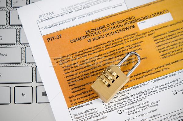 Belasting kantoor business internet elektronische fiscale Stockfoto © simpson33