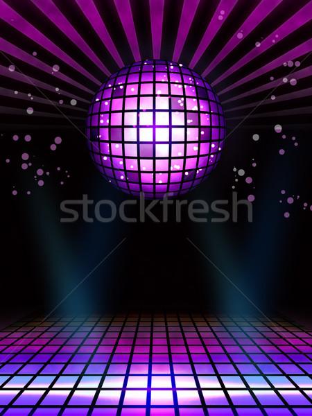 Techno disko büyü top poster tok Stok fotoğraf © simpson33