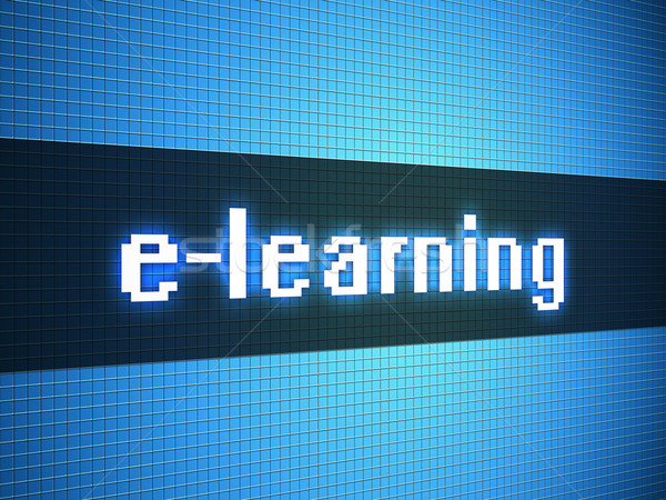 e-learning word on lcd-styled display Stock photo © simpson33