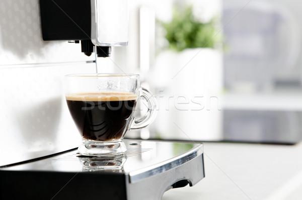 профессиональных домой кофеварка современных кухне Сток-фото © simpson33