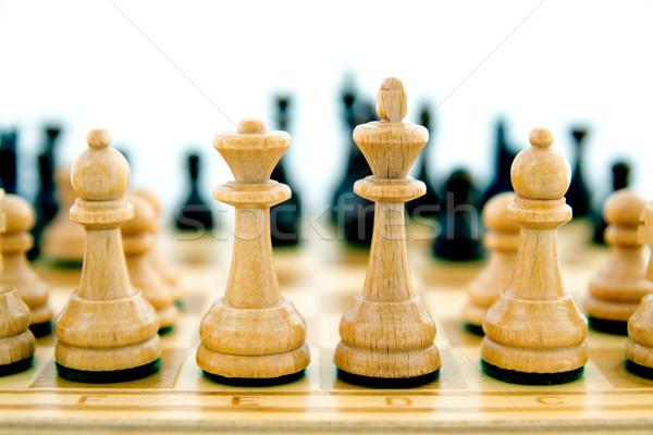 Satranç tahtası iş satranç siyah güç Stok fotoğraf © simpson33