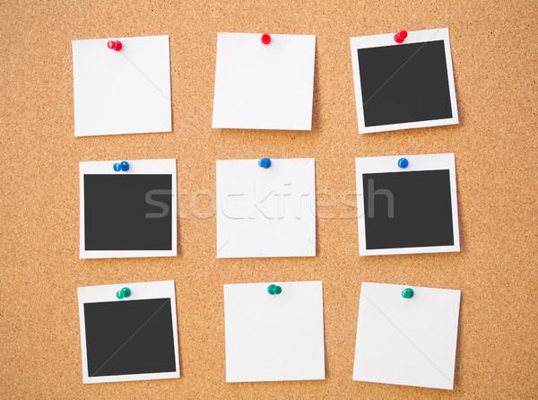 Foto nota placa de cortiça madeira filme informação Foto stock © simpson33