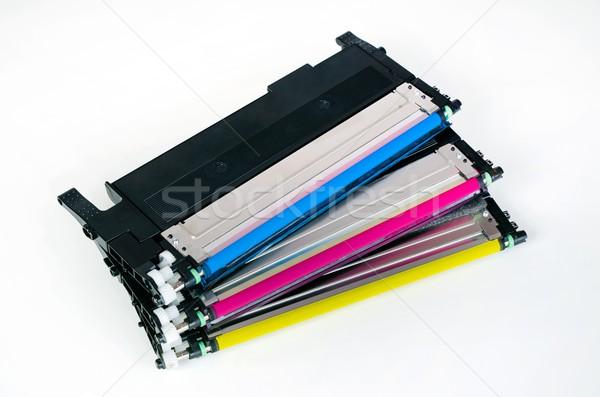Patron szett lézer nyomtató számítógép készlet Stock fotó © simpson33