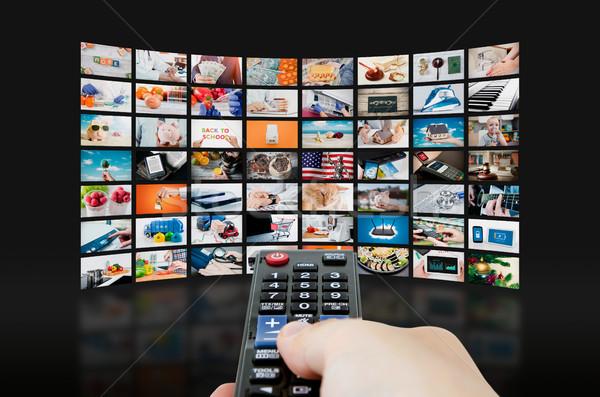 Multimedia videowall televisie uitzending muur video Stockfoto © simpson33