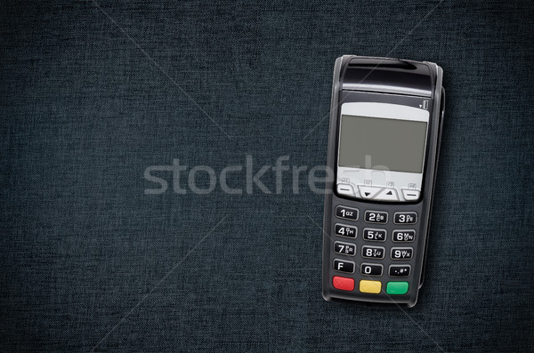 Payment terminal top view composition Stock photo © simpson33