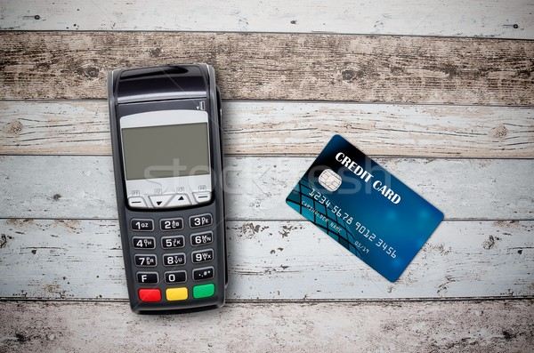 支払い クレジットカード 木製 先頭 表示 木材 ストックフォト © simpson33
