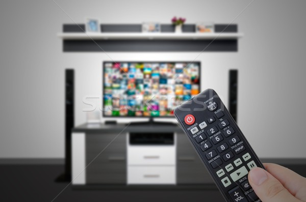 Modernes tv chambre main Photo stock © simpson33