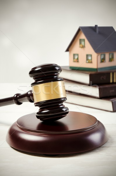 Törvény kalapács ház kölcsön árverés jogi Stock fotó © simpson33