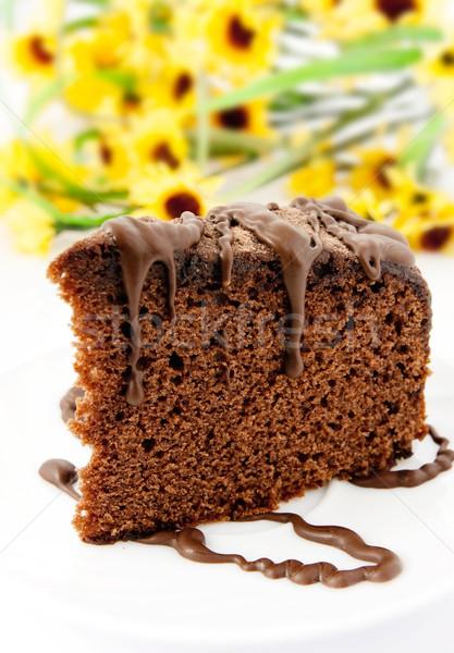 ジンジャーブレッド プレート 黄色の花 食品 チョコレート ファブリック ストックフォト © simpson33