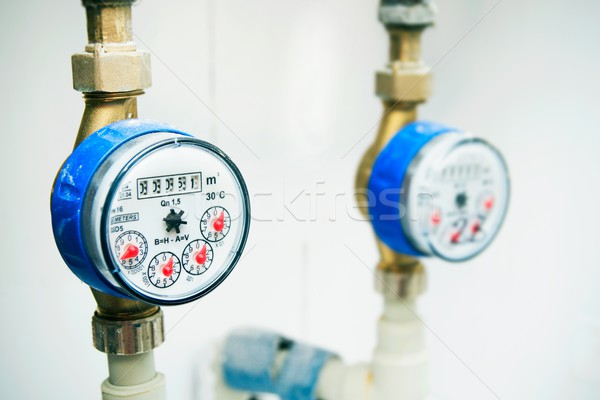 Sanitary equipment. Meters of the water Stock photo © simpson33