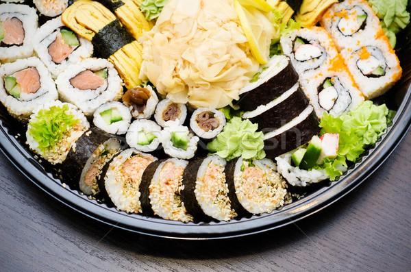 Sushi conjunto tradicional comida japonesa comida mar Foto stock © simpson33