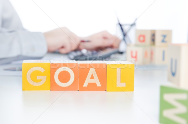 GOAL word with colorful blocks Stock photo © simpson33